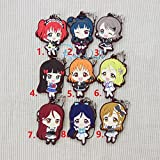 Game, Fun, Love Live Lovelive Sunshine Anime Takami Chika Watanabe You Tsushima Yoshiko Aqours 2 Aqours Aqours Rubber Keychain, Toy, Play
