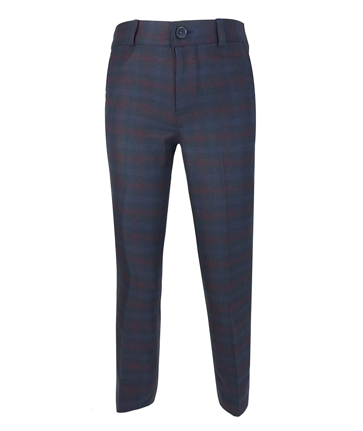Boys Tailored Fit English Check Suits