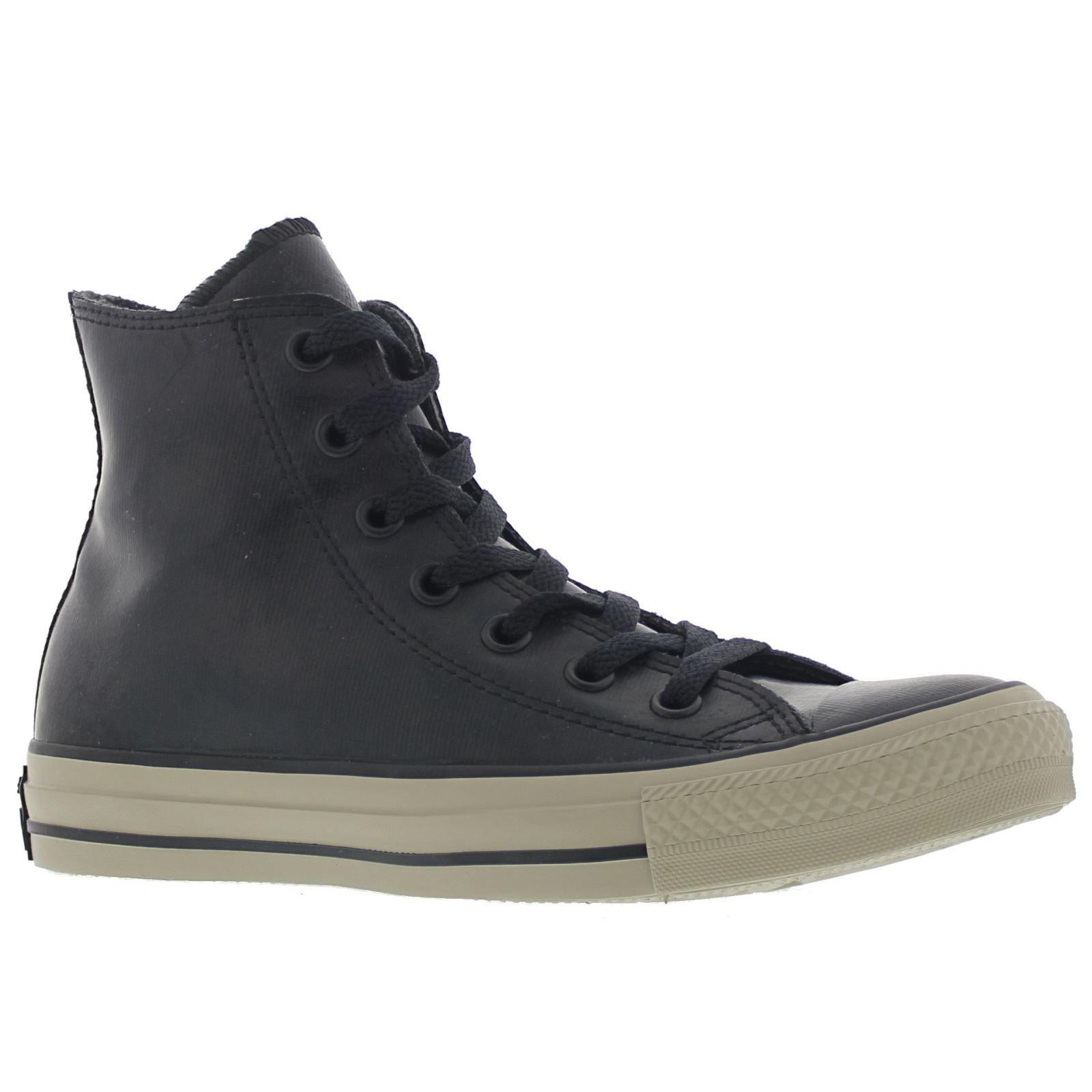 Converse Mens Chuck Taylor All Star Rubber Black Sneaker 4 Men 6 Women