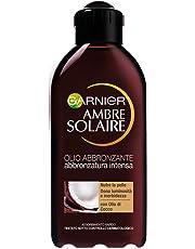 Garnier Ambre Solaire Protezione Solare, Olio Abbronzatura Intensa IP2 al Profumo di Cocco, 200 ml