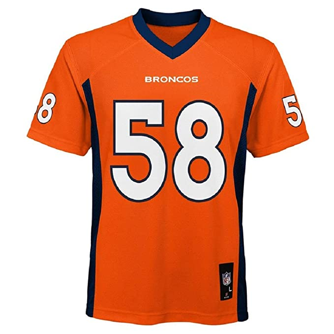 33c98355 Amazon.com: Von Miller Denver Broncos NFL Toddler Orange Home Mid-Tier  Jersey: Clothing