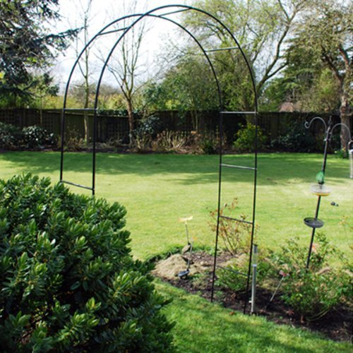 METAL STEEL GARDEN ROSE ARCH. 2.4m TALL. TRAILING PLANTS ROSES RUNNER BEANS KINGFISHER