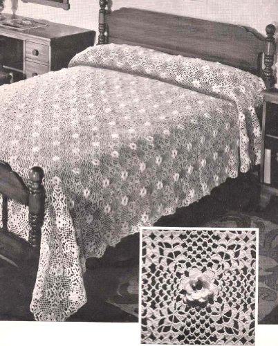 Beauty Rose Crocheted Bedspread Crochet Pattern