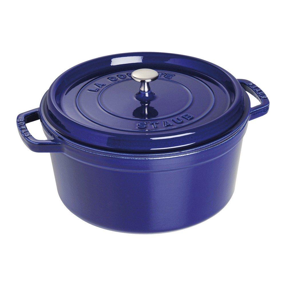 Staub Round Cocotte, Dark Blue, 7 qt. - Dark Blue (1102891)