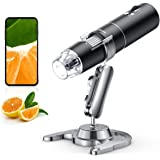 Wireless Digital Microscope, Skybasic 50X to 1000X WiFi Handheld Zoom Magnification Endoscope Camera Magnifier 1080P FHD…