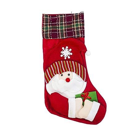 FLYWS Navidad Decorativa Bolsa de Regalo Navidad Calcetines ...