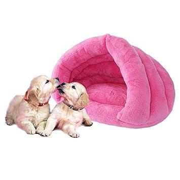 Gowind6 Cama para Mascotas, Gatos, Perros, Cachorros, Cuevas, Mascotas, colchoneta de Dormir, cojín de Igloo Nest cálido