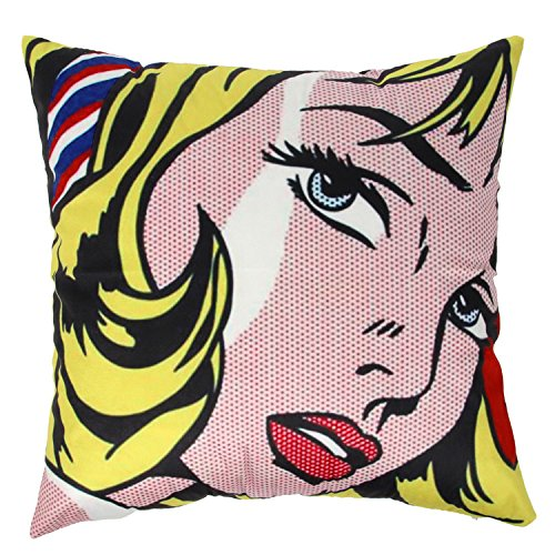 Ogiselestyle Vintage Cushion Cover Pop Art Blonde Girl Pattern Sofa Simple Home Decor Throw Pillow Cases Sofa Cushion Cover 18