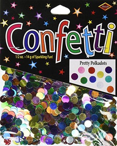 Beistle CN137 Pretty Polka Dots Confetti, 1/2-Ounce