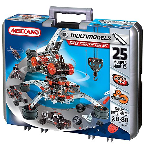 Erector Toys - Meccano Erector by Super Construction Set, 25 Motorized Model Building Set, 638 Pieces, For Ages 10 and up, STEM Education Toy