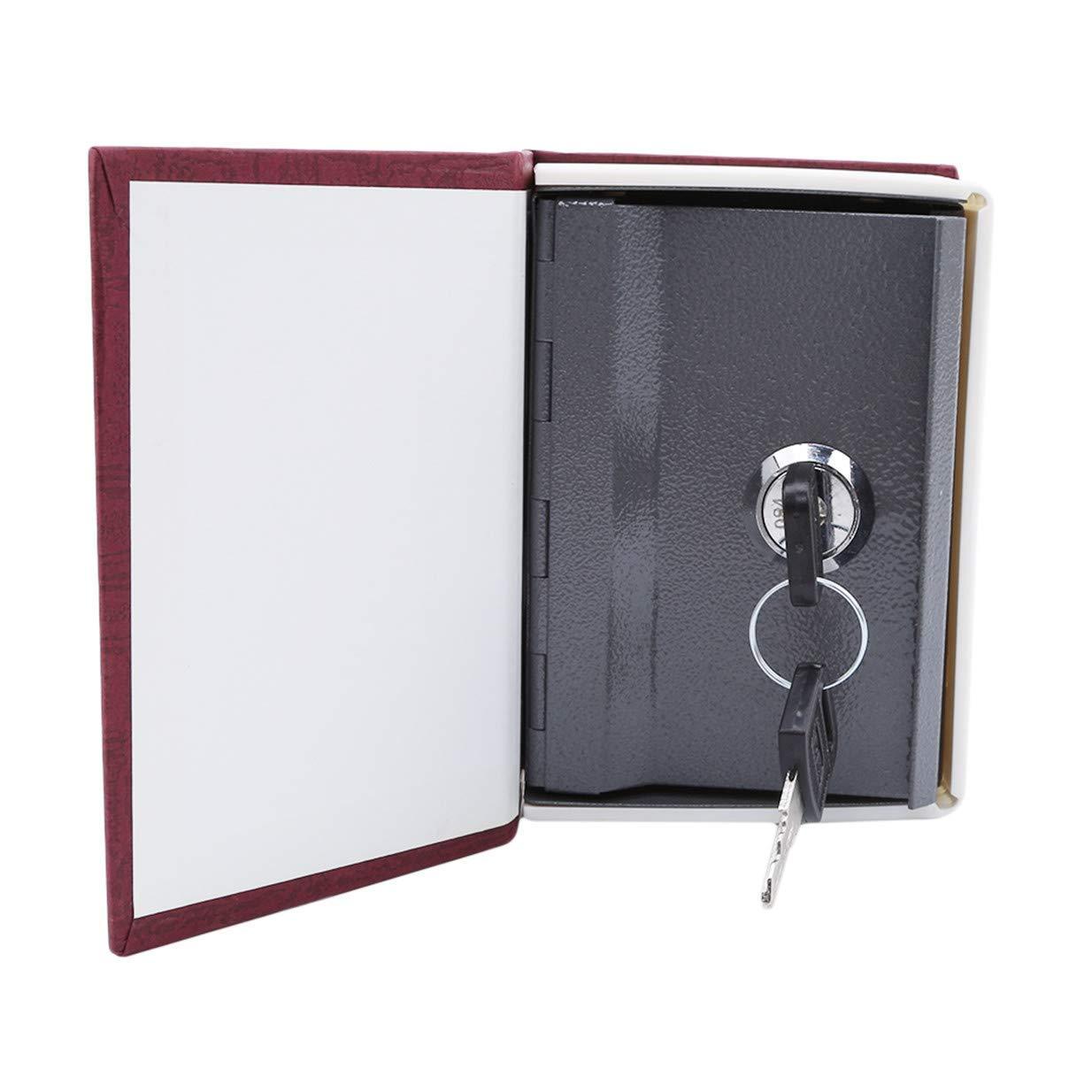 Ogquaton Haute Qualit/é Mini Dictionnaire Tirelire S/écurit/é S/écurit/é Verrouiller Largent Coin Stockage Bijoux Key Locker pour Kid Giftred