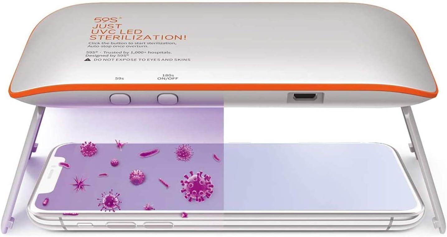 Hand-Sterilisationslampe Hotel wiederaufladbar schnelle Sterilisation UV-Desinfektionslampe 99,9 /% UV-Licht-Sterilisator faltbar B/üro perfekt f/ür Zuhause USB-Aufladung leicht zu tragen