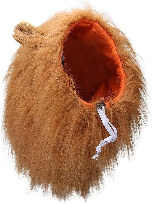 Vivifying León Mane peluca, ajustable mascota disfraz con orejas para perro (Marrón): Amazon.es: Productos para mascotas