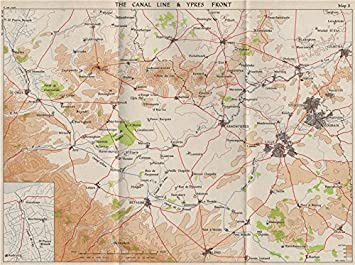 Map Of France 1940.Fall Of France 1940 Canal Line Ypres Front Lille Roubaix St Omer