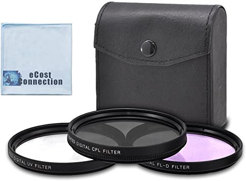 77mm Circular Polarizer Multicoated Glass Filter Microfiber Cleaning Cloth CPL for Nikon Zoom Telephoto AF VR Zoom Nikkor 70-200mm f//2.8 G-AFS ED-IF