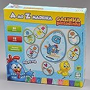 Jogo A ao Z Madeira, Galinha Pintadinha, Nig Brinquedos