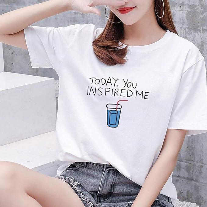 Taille Édition Femme Shirt Coréenne Lâche Dfdong Grande Impression T lKJTFc1
