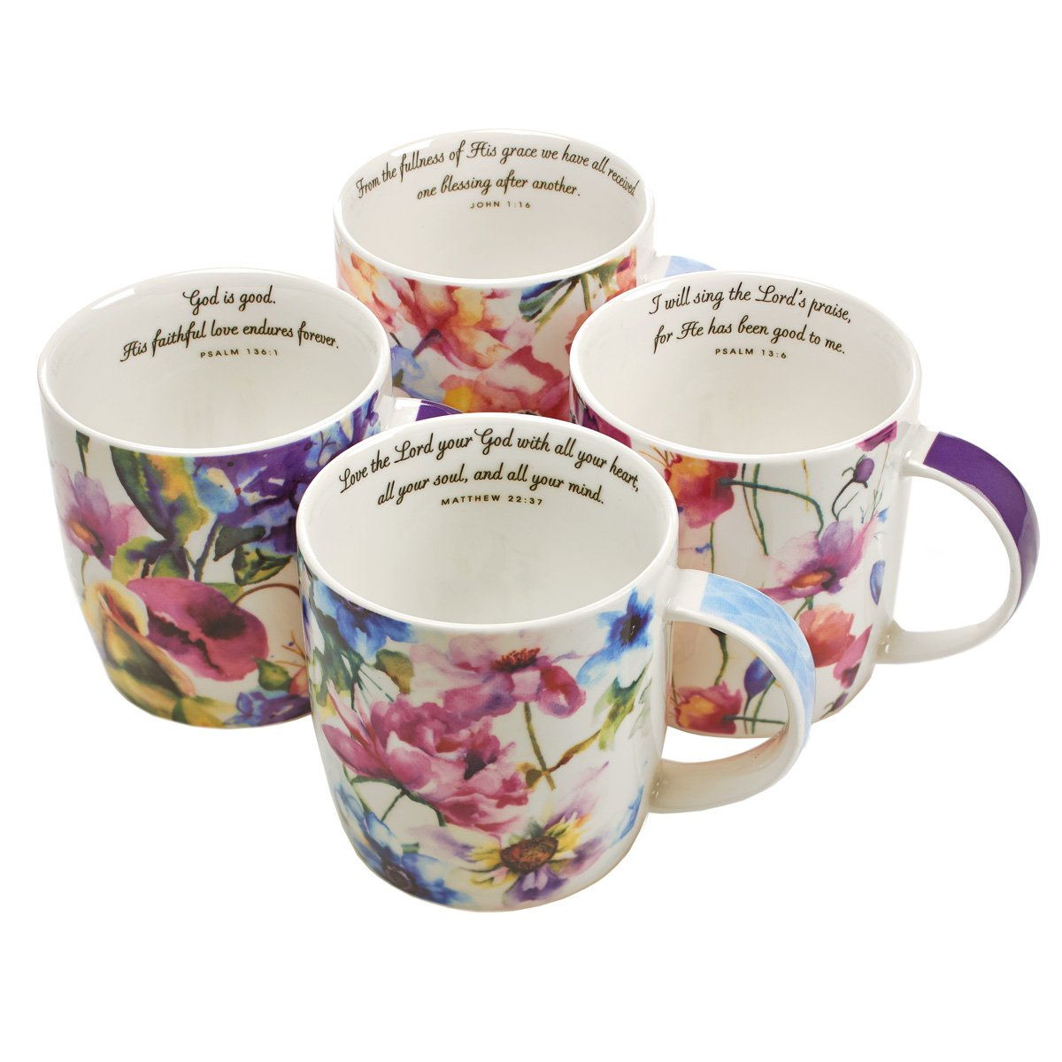Seeds of Love Inspirational Mugs - Set / 4 by Christian Art Gifts