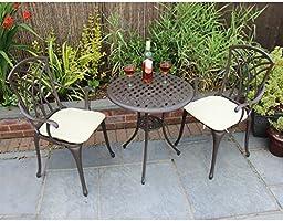 Bentley Garden - Set 3 muebles de terraza - Mesa y 2 sillas ...