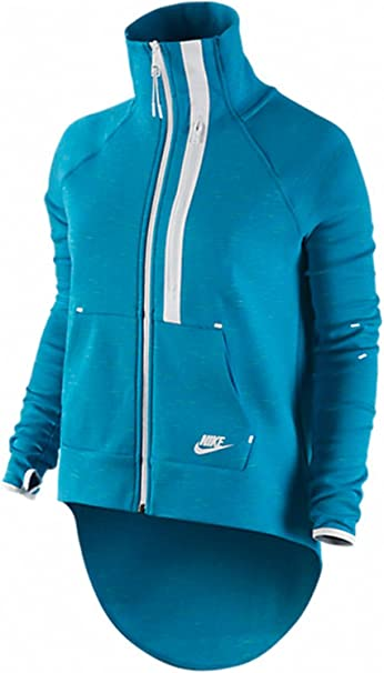Amazon Com Women S Nike Tech Fleece Jacket Blue White Clothing
