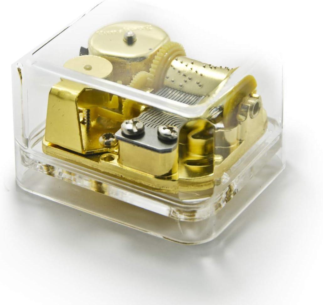 Clear 18 Note Acrylic Box Musical Paperweight - Que Sera Sera