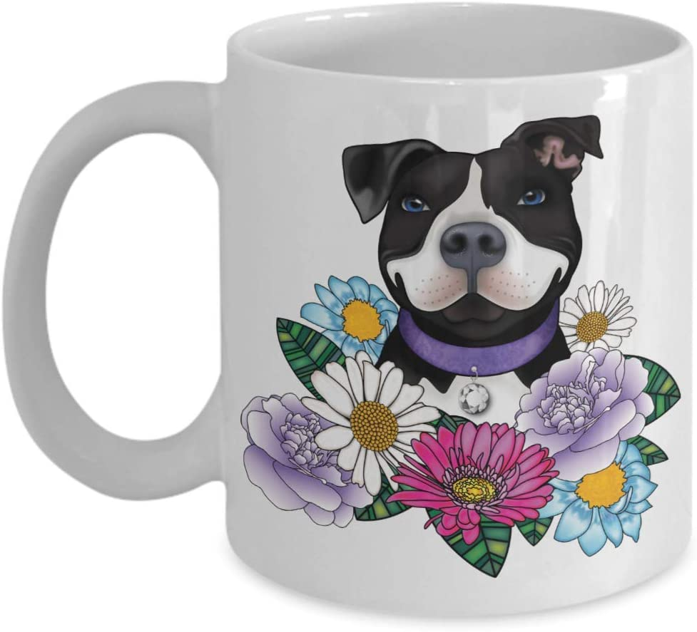 Pit Bull Themed Gifts For Women Mom Grandma Best Pitbull Mom Ever Lovers Owner Woman Presents White Pitbull Mom Mug Pitbulls Dog Portable Novelty Ceramic Coffee Cup