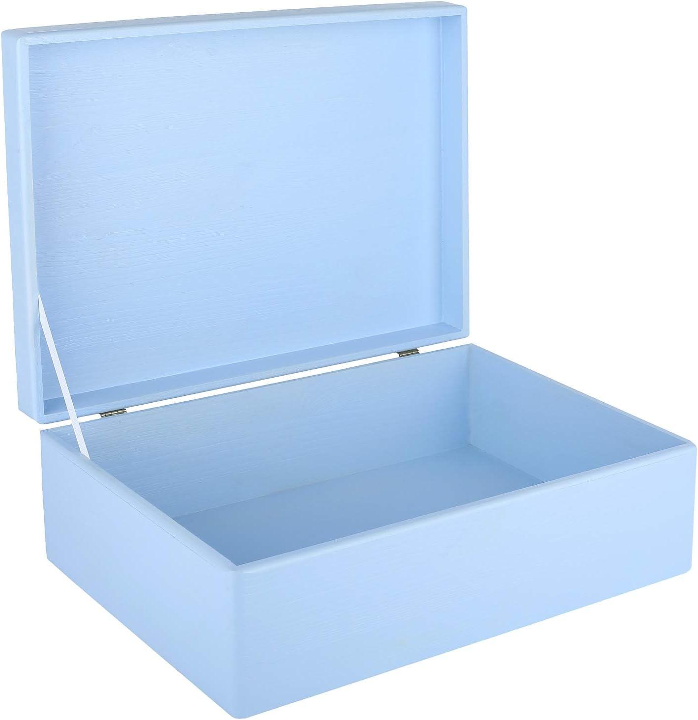 Creative Deco XL Azul Grande Caja de Madera para Juguetes | 40 x ...