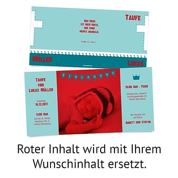 Taufe Einladungskarten 10 Stück Altarfalz Kreuz In Blau Taufeinladung