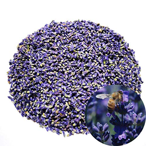 TooGet Organic Dried Lavender Flowers Extra Grade Ultra Blue Lavender Buds Vacuum-Packed - 8 OZ