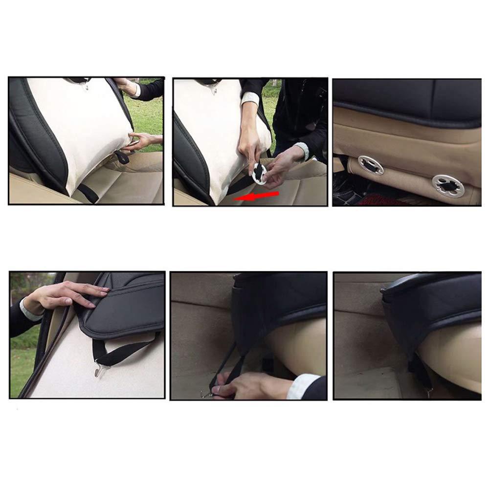Chemu Autositzbezug Sets 2 St/ück Universal Auto Innen Zubeh/ör Schwarz Leder f/ür Altea ateca Ibiza