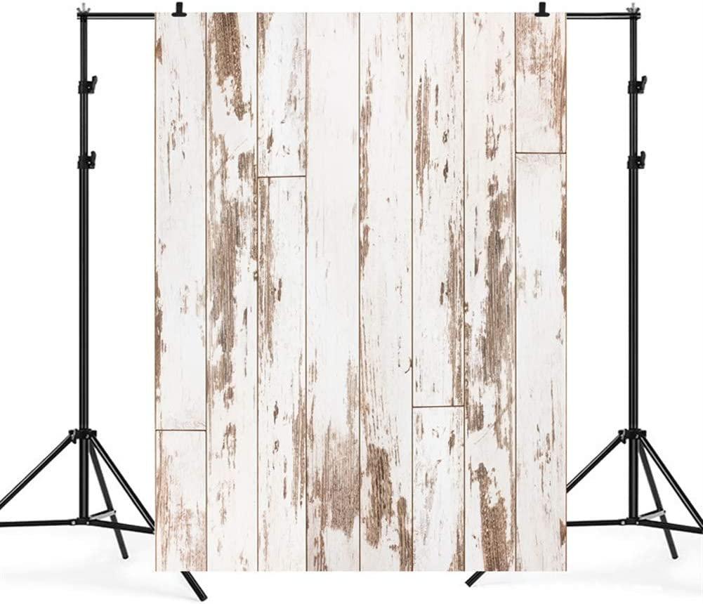 WxL Insun Vintage Wooden Plank Photo Backdrop Floor Vinyl Photography Background Non Reflective for Party Photobooth Video Shotting 6.5x10ft