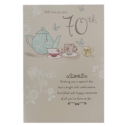 Amazon Hallmark 70th Birthday Card For Her Youre Wonderful