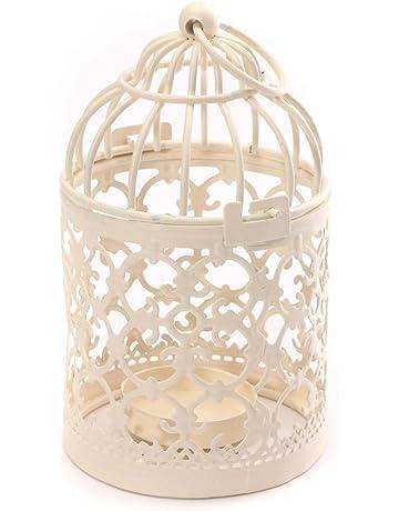 Leisial - Romántico candelabro de hierro calado de estilo Vintage Clásico, decoración europea, 14