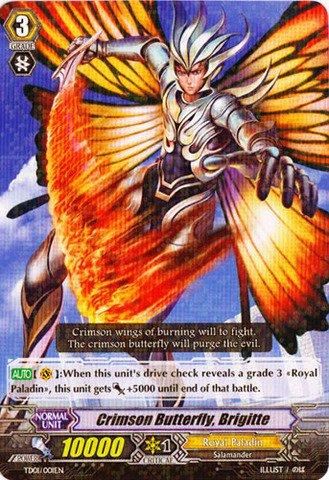 Cardfight!! Vanguard TCG - Crimson Butterfly, Brigitte (TD01/001EN) - Trial Deck 1: Blaster Blade