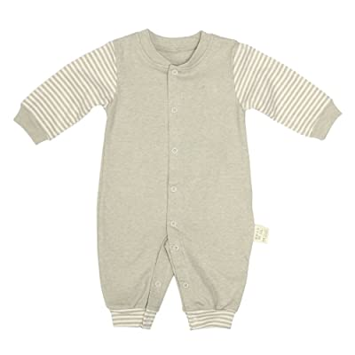 Chinatera Baby Boys Girls Fall Winter Clothes Long-sleeved Striped Romper Newborn Jumpsuit