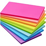 Sticky Notes 3x5 inch Bright Colors Self-Stick Pads 8 Pads/Pack 50 Sheets/Pad Total 400 Sheets