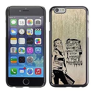 Qstar Arte & diseño plástico duro Fundas Cover Cubre Hard Case Cover para Apple iPhone 6(4.7 inches) ( Occupy Freedom Stencil Graffiti Protest)