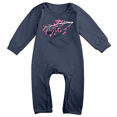 fa401f621313 Amazon.com  Baby Boy Girl Coverall Cherry Blossom Tree Clip Art-1 ...