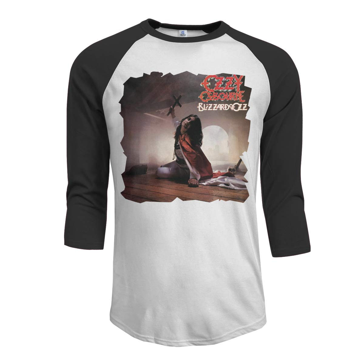 T-Shirt for Men Blizzard of Ozz Expanded Edition Ozzy Osbourne Classic 3//4 Sleeve Raglan Tee