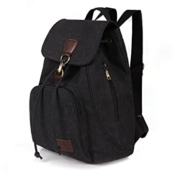 WITERY - Bolso mochila para mujer Black 10 talla única: Amazon.es: Equipaje