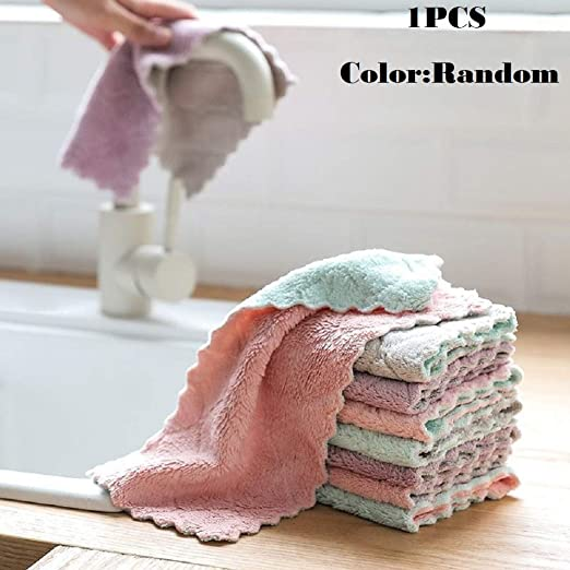 Super Absorbent Microfiber Kitchen Gadgets Dish Cloth Household Cleaning Towel