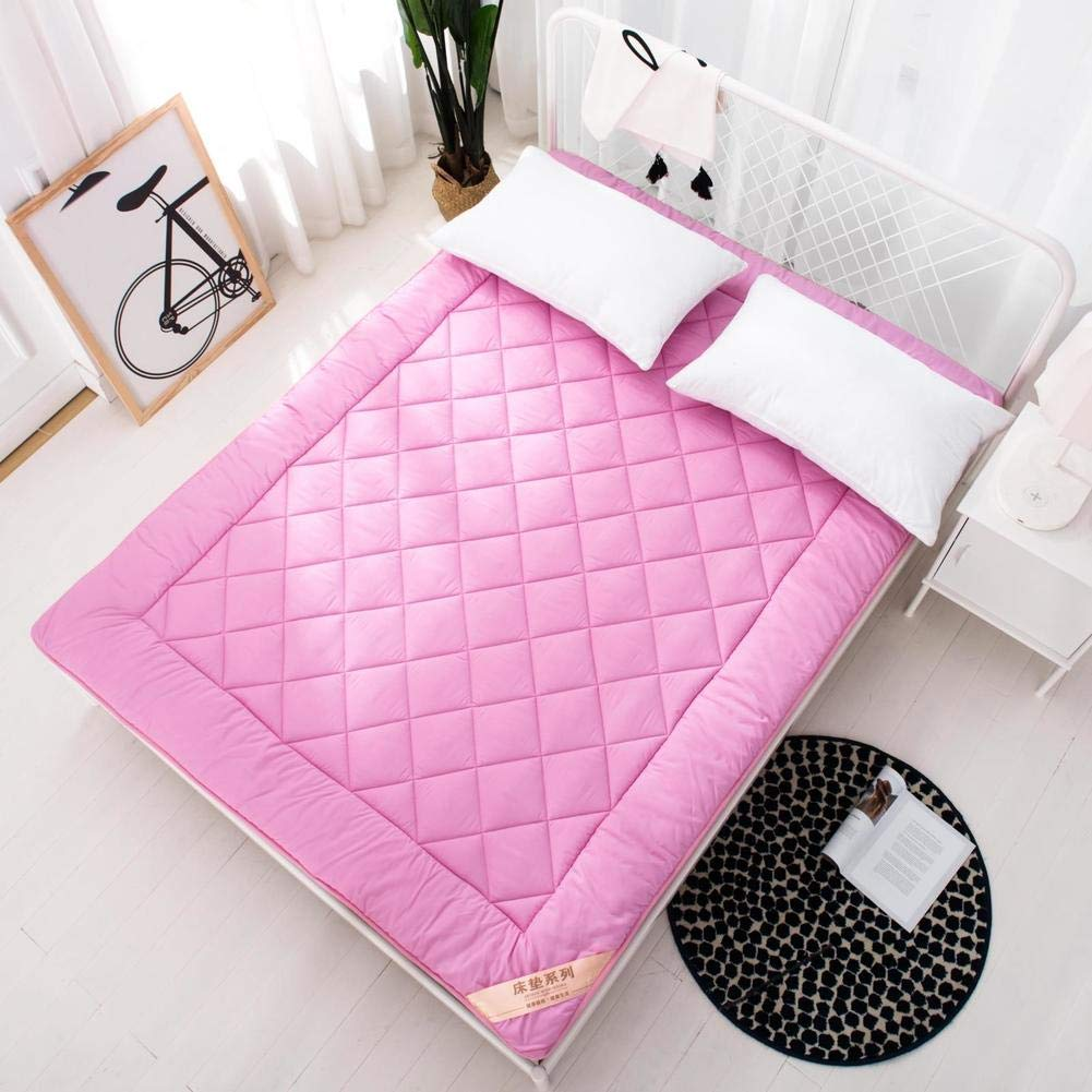 E 135x200cm(53x79inch) Soft Student Dormitory Mattress,Foldable Thick Mattress Topper Durable Fluffy Bed Tatami mat Breathable Anti-Bacterial Nap mat-F 150x200cm(59x79inch)