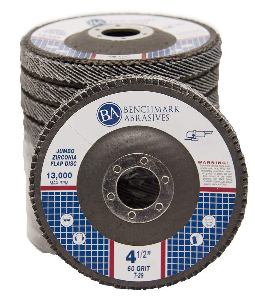 "50 Pack 4.5″ x 7//8/"" Professional 60 Grit Zirconia Flap Disc Grinding Wheels T29"
