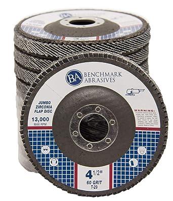Type 29 High Density Jumbo Flap Sanding Wheels Aluminum Oxide Abrasives by LotFancy 20PCS 40 60 80 120 Grit Assorted Sanding Grinding Wheels 4.5 Inch Flap Discs