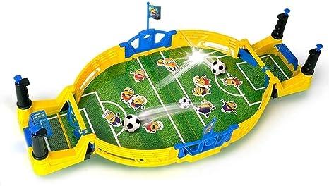 BEANFAN Doble Batalla máquina de Juego de Mesa de fútbol de los niños Entre Padres e Hijos Interacción Juego de Mesa Fútbol Juguetes for Chicos (Tamaño: 56.5x27.5x11.5cm): Amazon.es: Deportes y aire libre