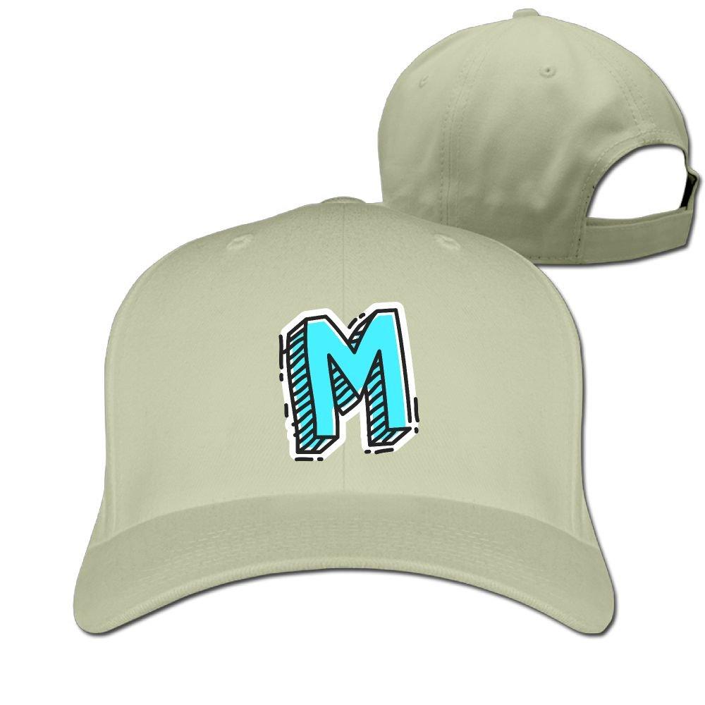 amazon com letter m mens snapback hip hop durable cotton polo hat