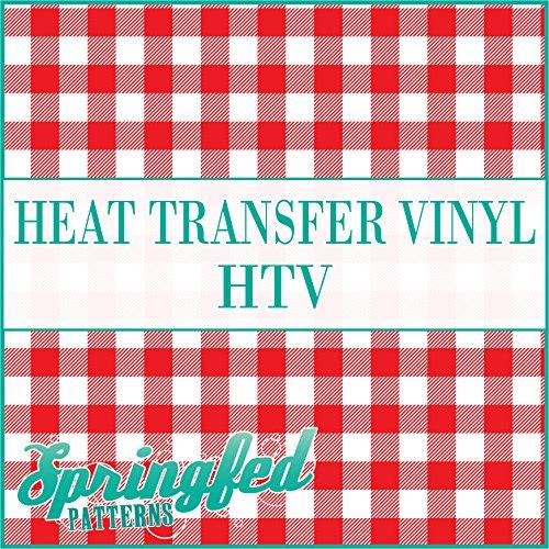 Buffalo Plaid Pattern in Red & White Heat Transfer Vinyl 12x14 Sheet of HTV for Shirts Springfed Printing