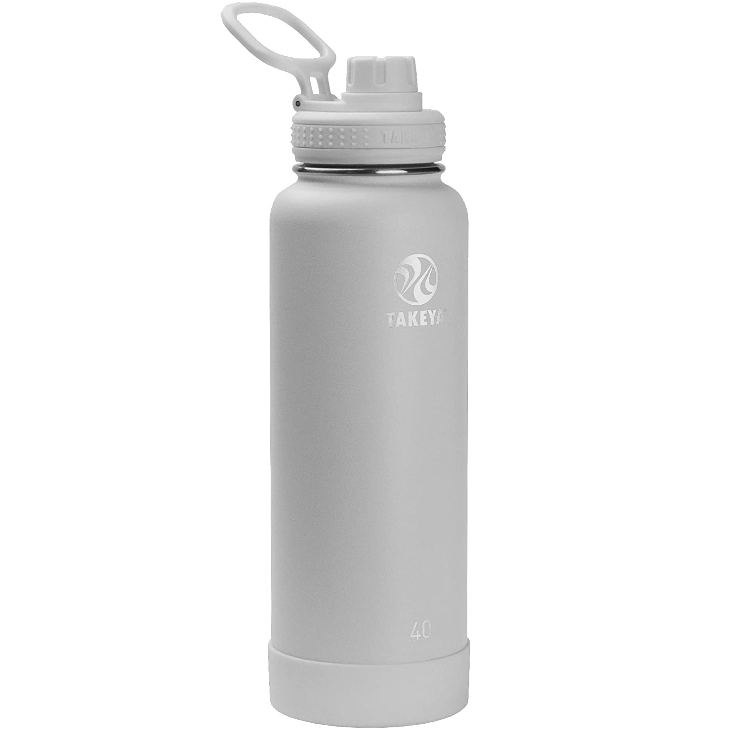 Pebble 40 oz Takeya 51112 Actives Stainless Steel Insulated Water Bottle with Straw Lid 64 oz