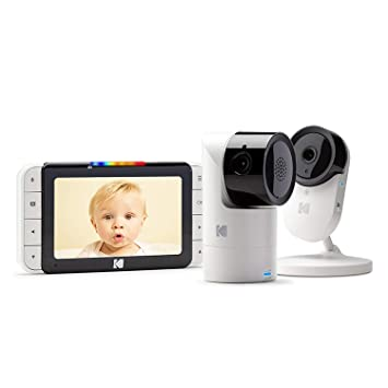 "Remote Tilt Long Range and 2-Way Talk 5/"" HD Parent Unit HD Baby Camera Pan and Zoom Camera Battery for Wireless Infrared Night Vision KODAK Cherish C525IR Video Baby Monitor and Mobile App"