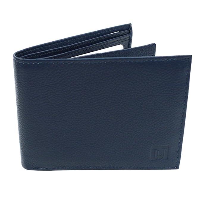 6966b5facb8b8 Men s Leather RFID Blocking Protection BiFold Billfold Wallet (Blue) at Amazon  Men s Clothing store